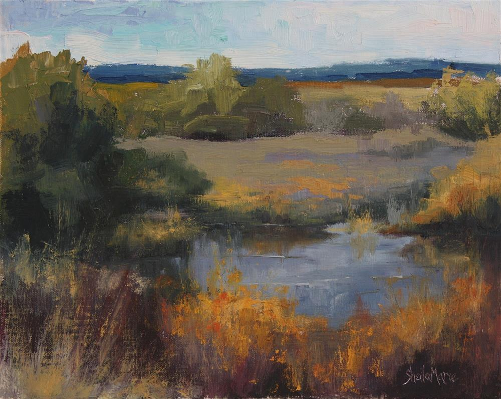 """September Marsh"" original fine art by Sheila Marie"