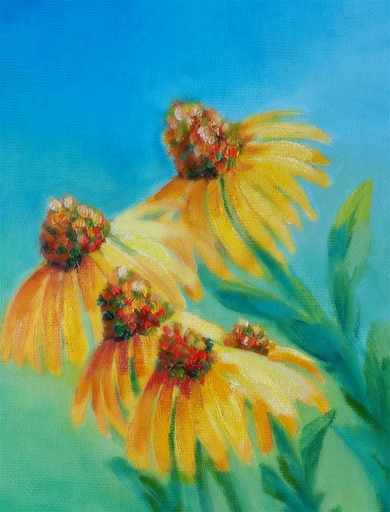 """""""ConeFlower-Shine"""" original fine art by Dana C"""