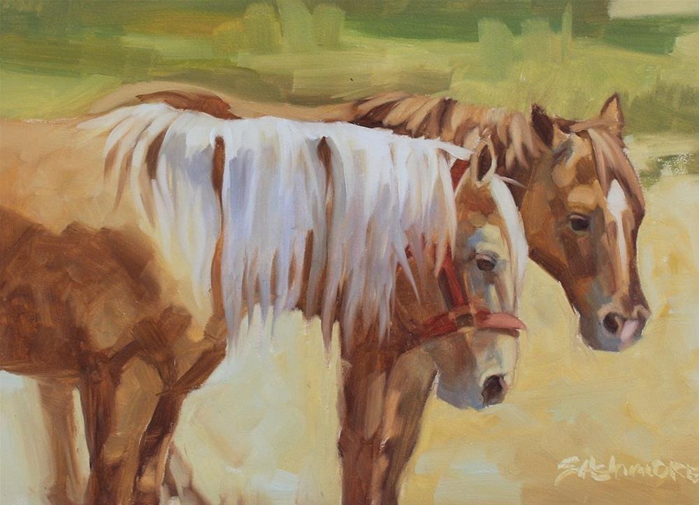 """""""Friends"""" original fine art by Susan Ashmore"""