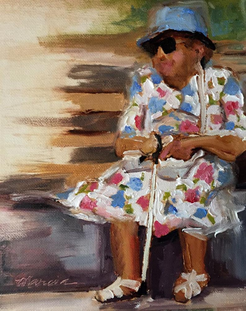 """Got My Party Dress On"" original fine art by Marcia Hodges"