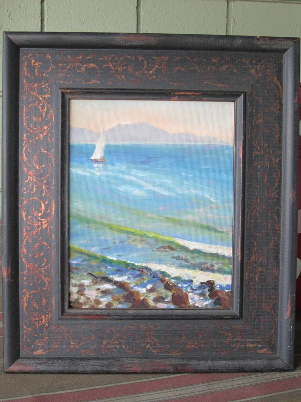 """Santa Barbara Sailboat"" original fine art by Leigh Alexandra Sparks"