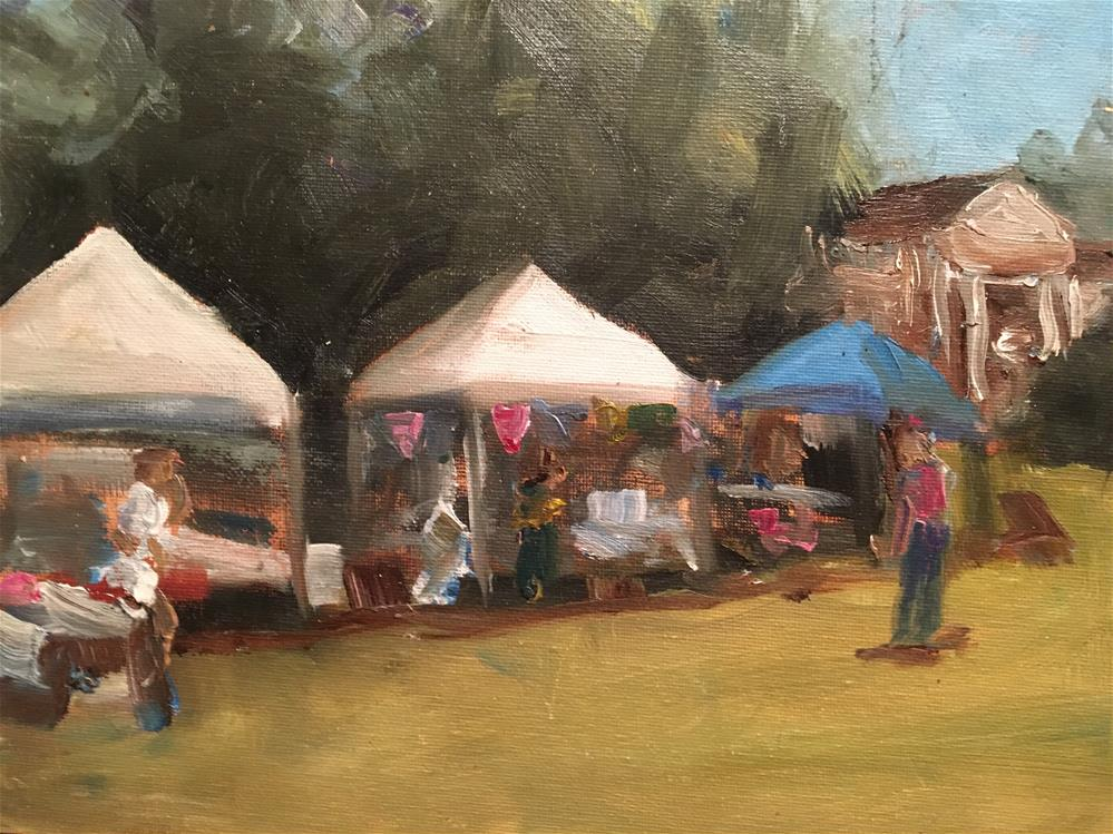 """Swanky Plank Market at Rippavilla, Spring Hill, July 2015"" original fine art by Susan Elizabeth Jones"