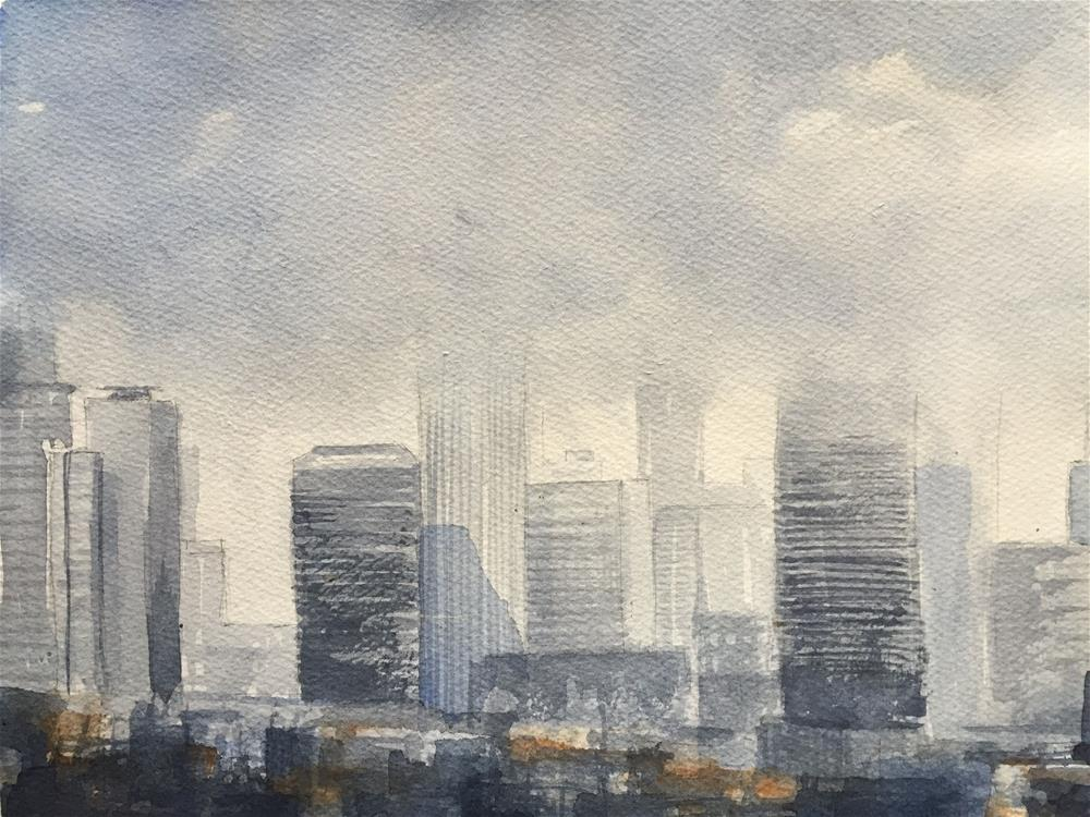 """CLOUDS OVER NEW YORK"" original fine art by Ferran Llagostera"