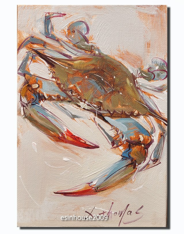 """Blue Crab"" original fine art by Thomas Xie"