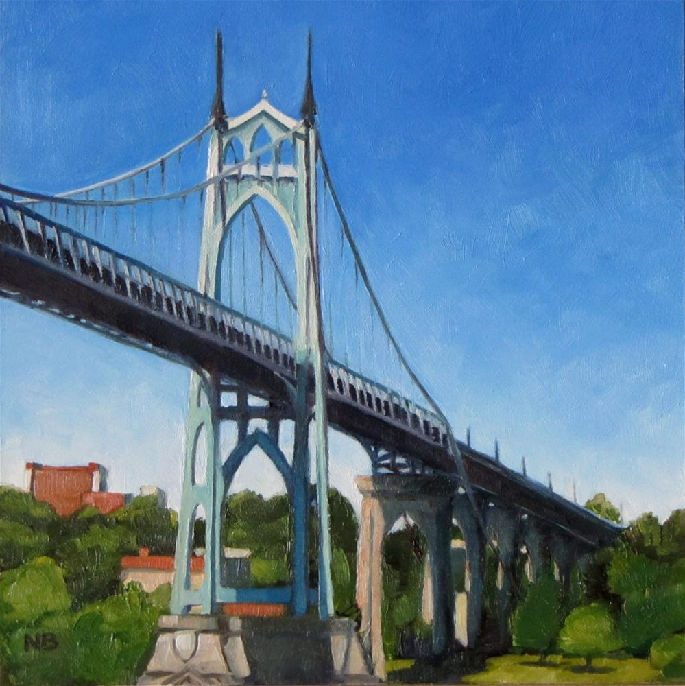 """St. John's Bridge - Not For Sale"" original fine art by Nora Bergman"