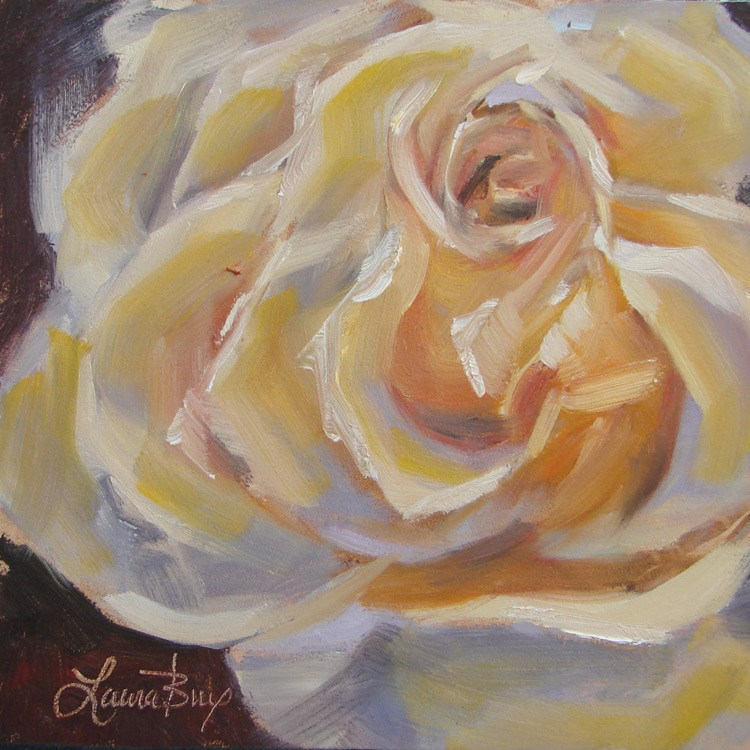 """A Yellow One - 412"" original fine art by Laura  Buxo"