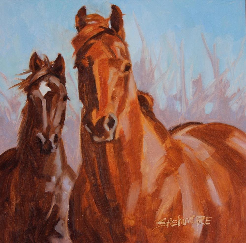 """''Friends III ''"" original fine art by Susan Ashmore"