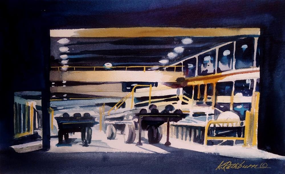 """Insights on Industry XIII - Night Shift"" original fine art by Kathy Los-Rathburn"