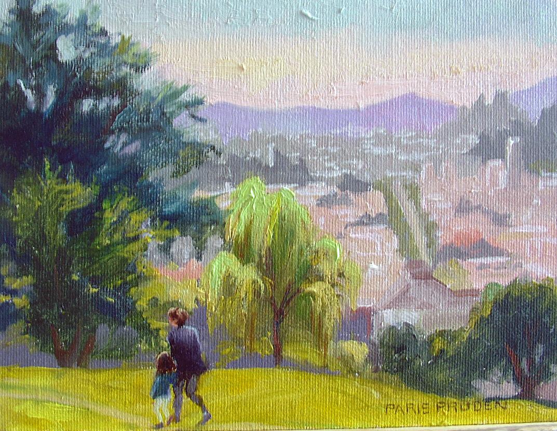 """""""San Francisco Park"""" original fine art by Nancy Paris Pruden"""