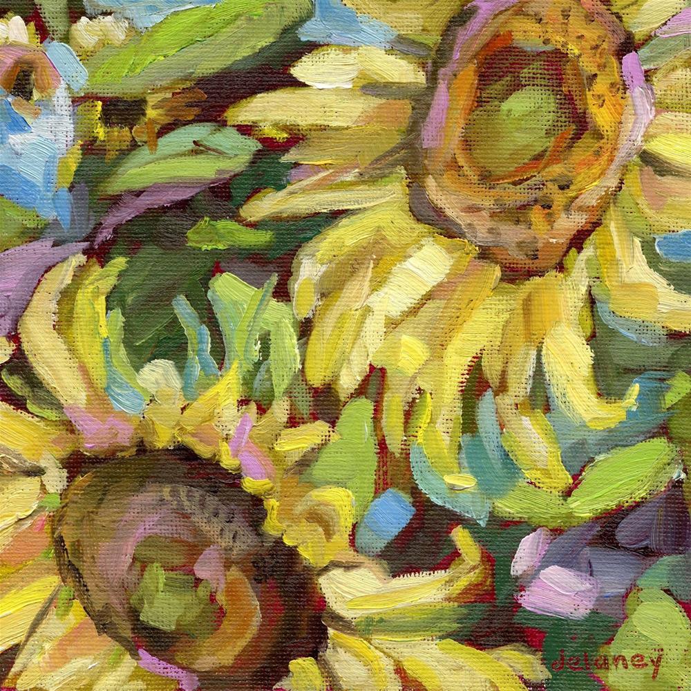 """""""SUMMER STATEMENT"""" original fine art by Jean Delaney"""