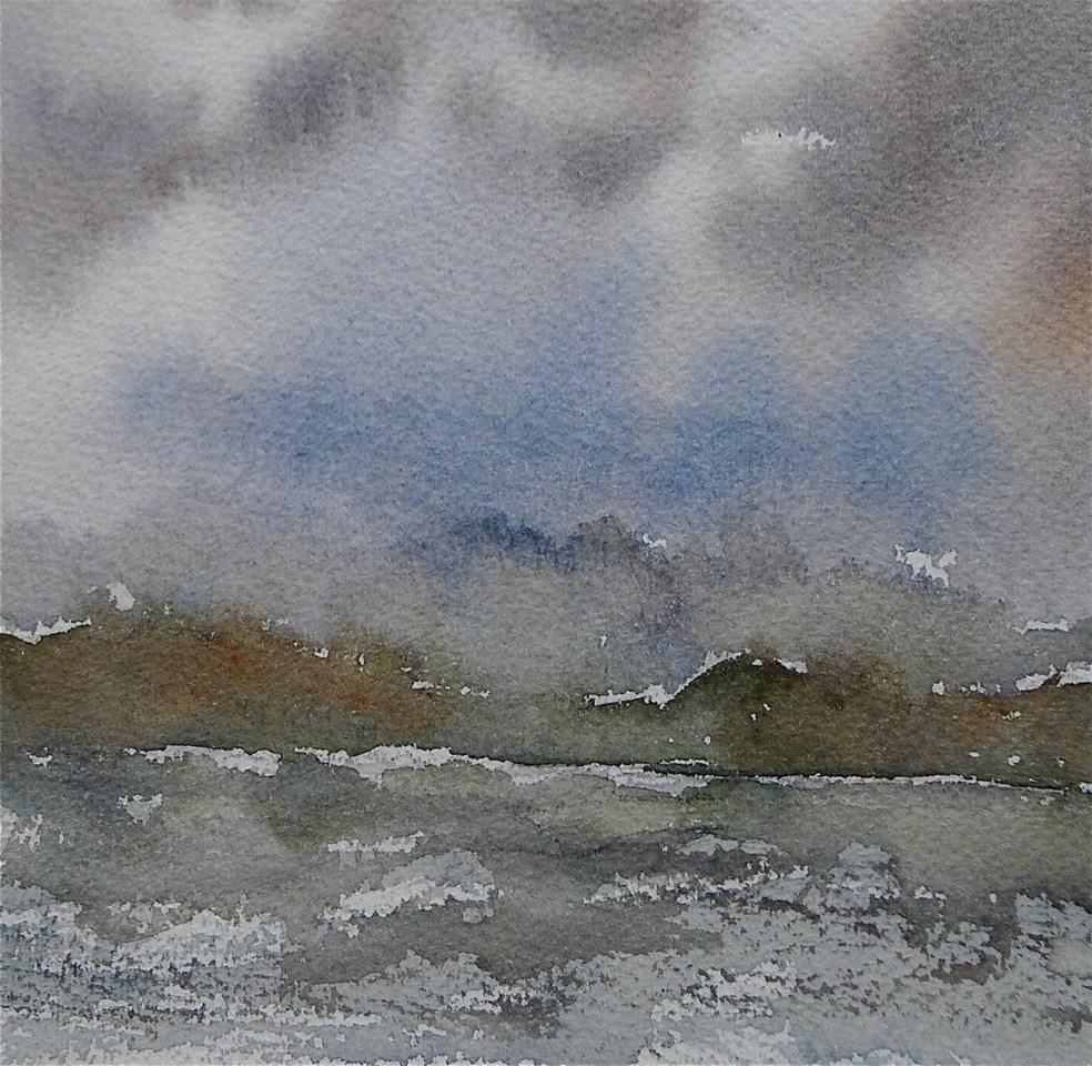 """Storm over Vilm / Baltic Sea"" original fine art by Ulrike Schmidt"
