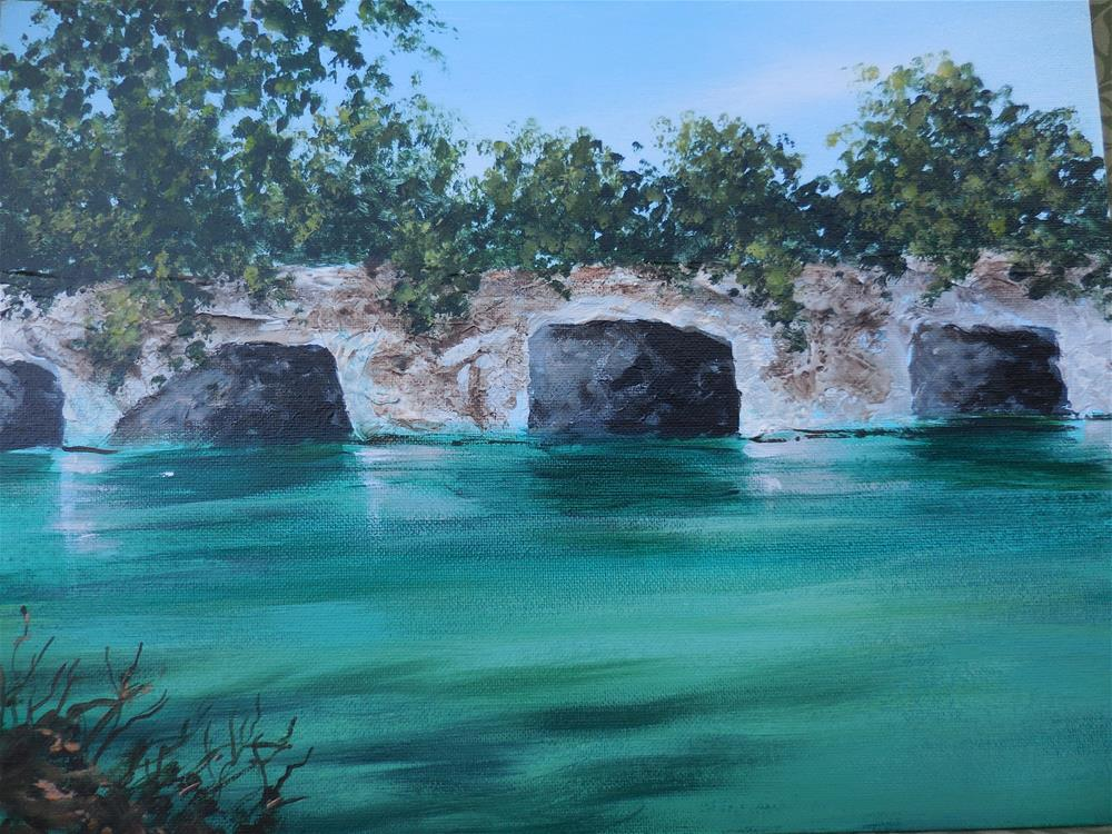 """West Virginia Swimming Hole"" original fine art by Terri Nicholson"