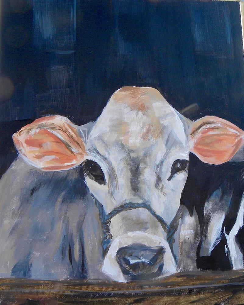 """MOO"" original fine art by cheryl buhrman"