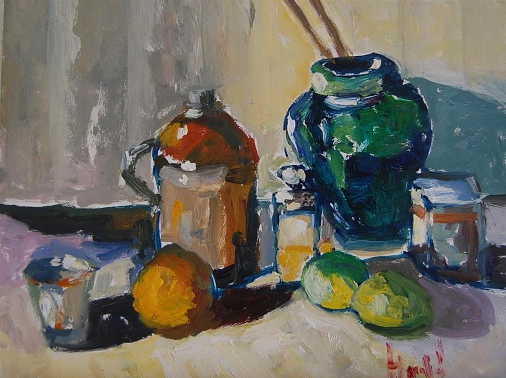 """Still Life Revisited"" original fine art by Deborah Harold"