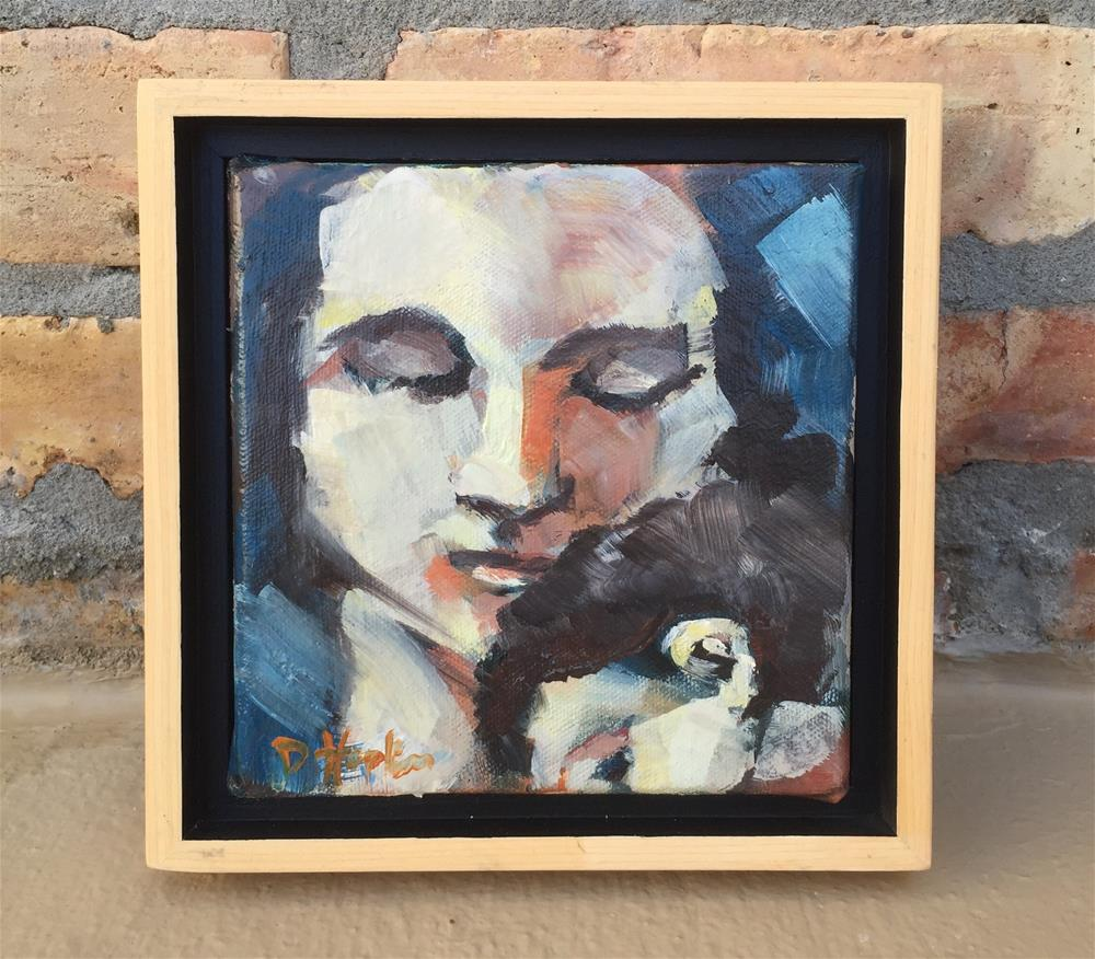 """Embraced, Framed"" original fine art by Denise Hopkins"