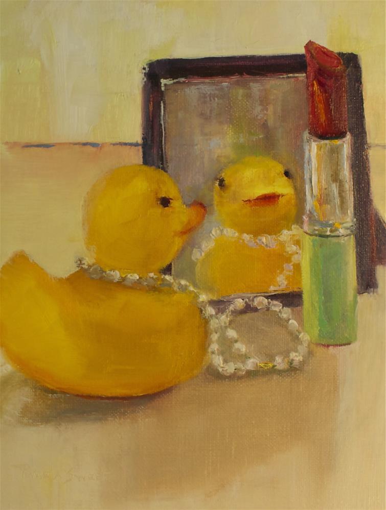 """""""Diva Duckie"""" original fine art by Pamela Sweet"""