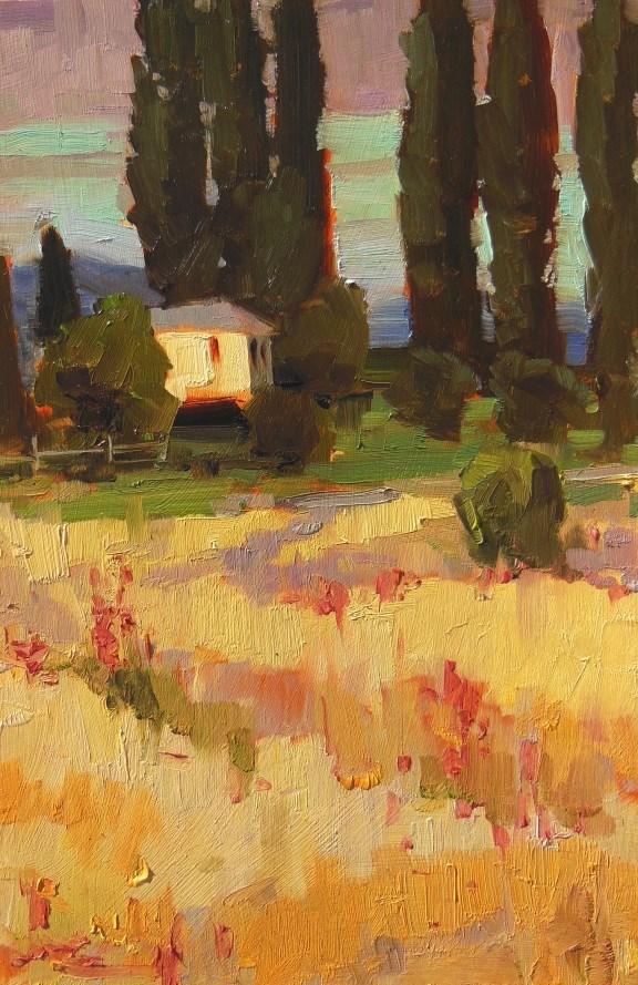 """Wheat Field Farm Skagit valley, plein air , oil painting by Robin Weiss"" original fine art by Robin Weiss"