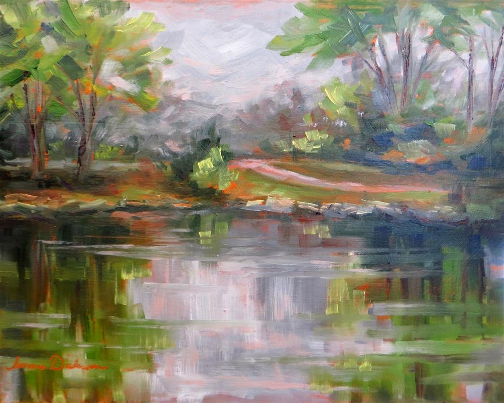 """Wine Country Lake"" original fine art by Tammie Dickerson"