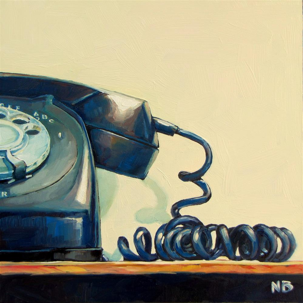 """Hang Up"" original fine art by Nora Bergman"