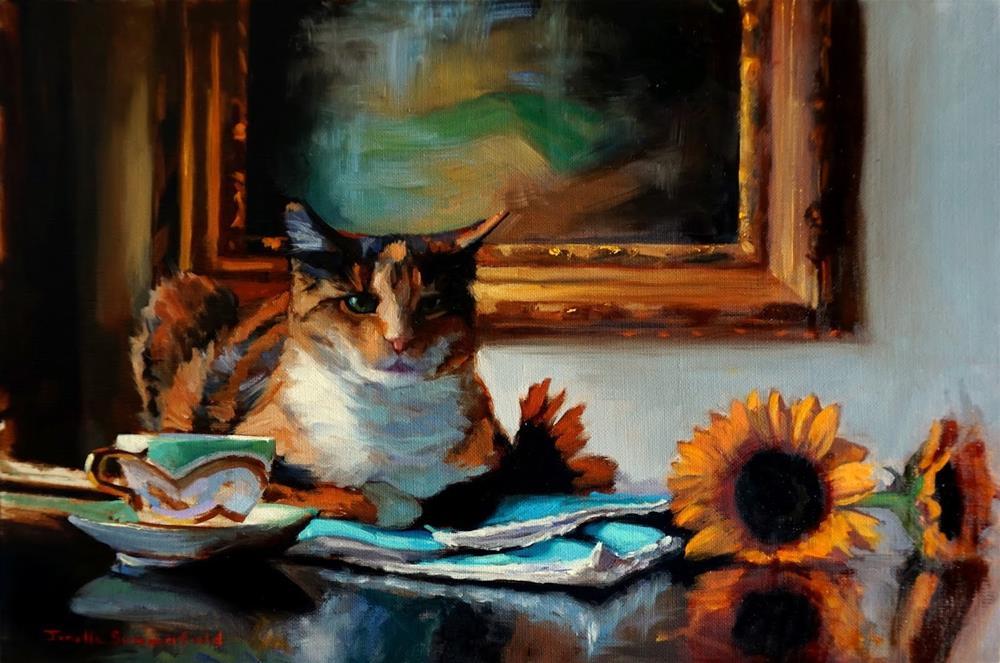 """""""Please Don't Eat the Sunflowers"""" original fine art by Jonelle Summerfield"""