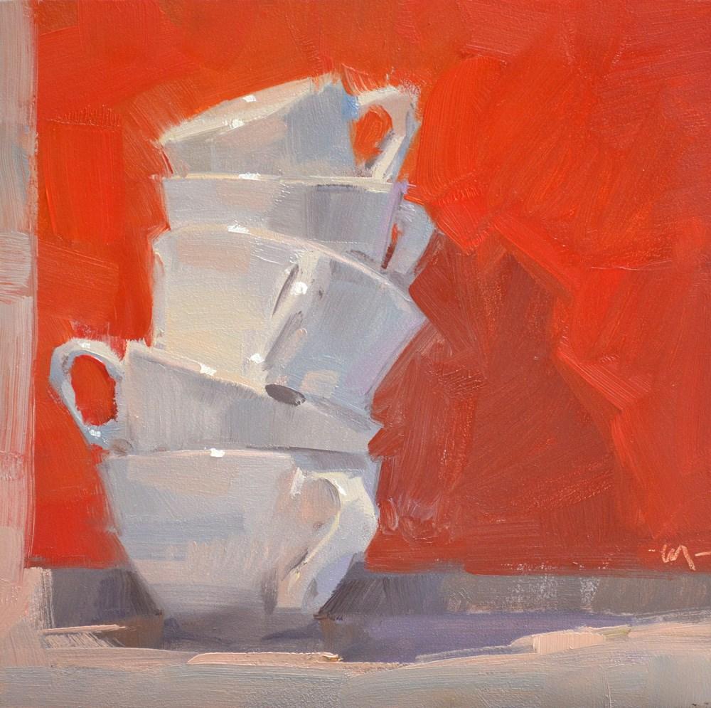 """Cups Askew"" original fine art by Carol Marine"