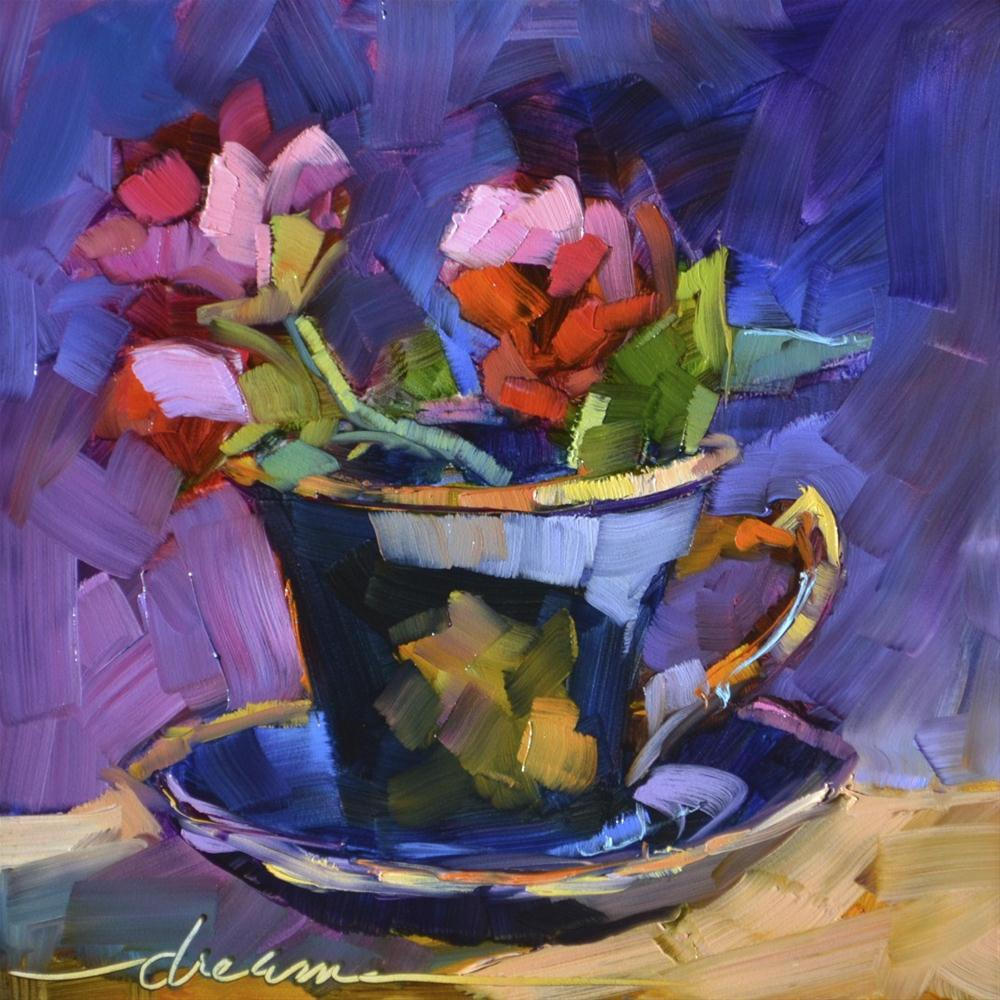 """A Cup of Goodness"" original fine art by Dreama Tolle Perry"