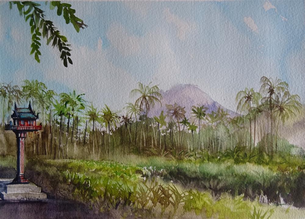 """The Spirit House on Pineapple Hills"" original fine art by Martin Stephenson"