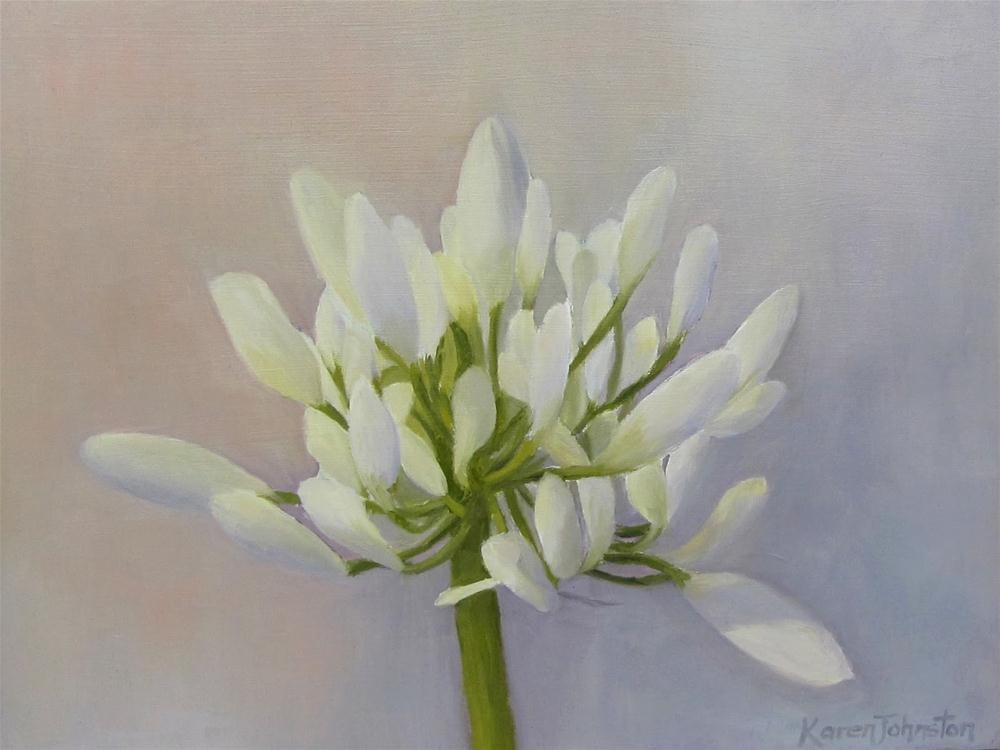 """Agapanthus Bud"" original fine art by Karen Johnston"
