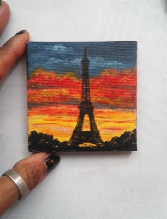 """Eifel Tower Paris"" original fine art by Camille Morgan"