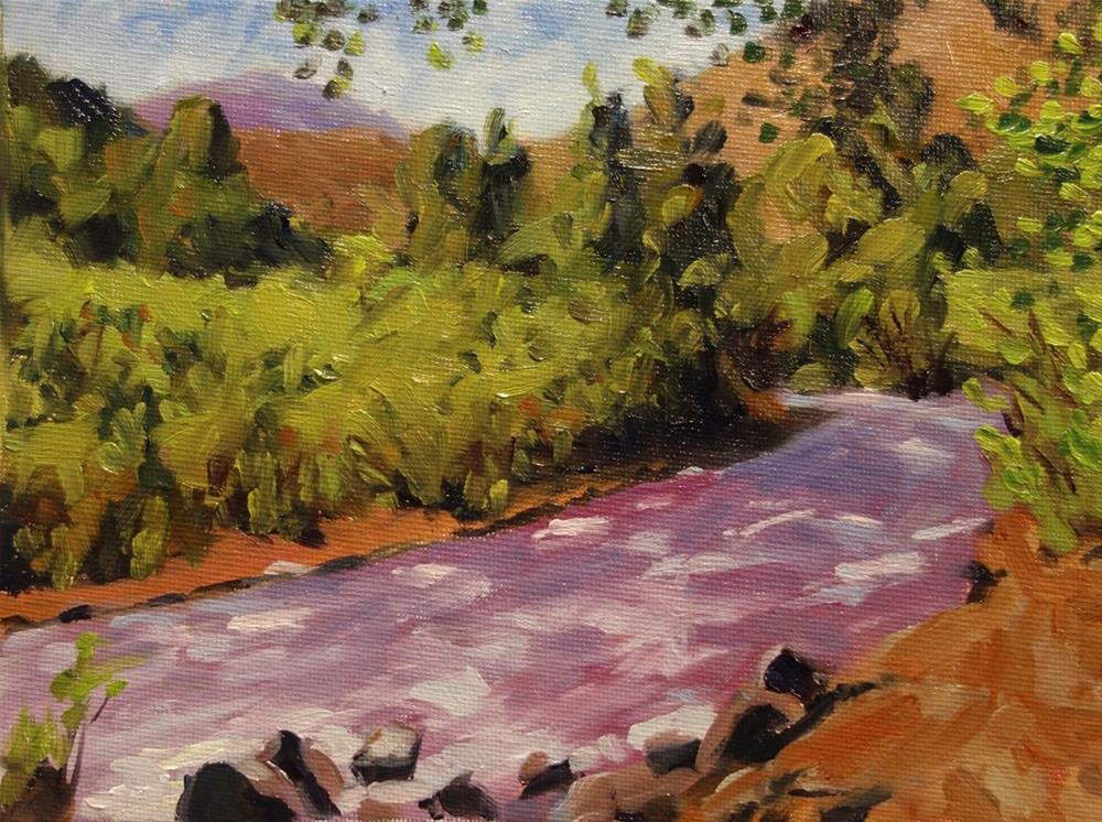 """High Water on Bear Creek"" original fine art by Daniel Fishback"