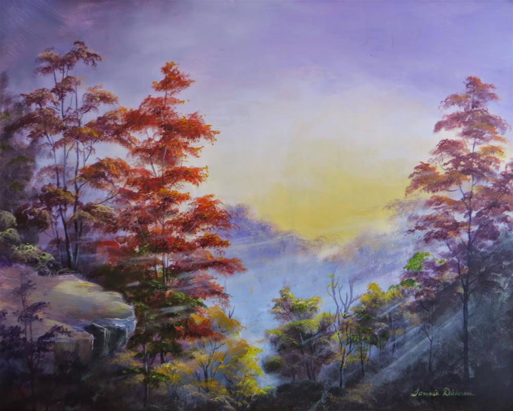 """""""Light in the Valley"""" original fine art by Tammie Dickerson"""