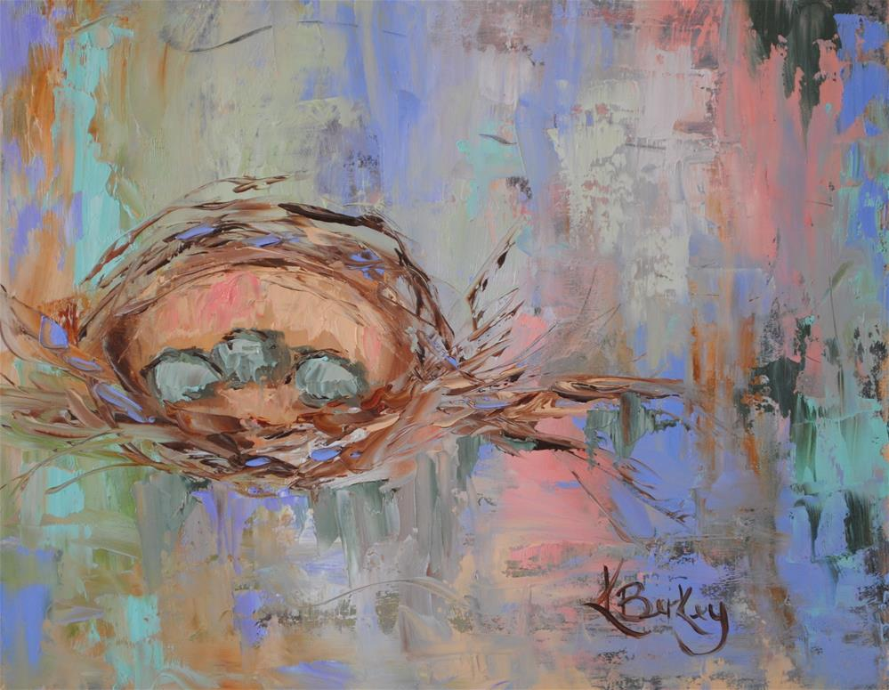 """Spring Nesting"" original fine art by Kelly Berkey"