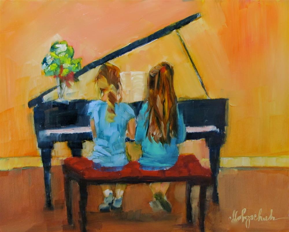 """Duet"" original fine art by Christine Holzschuh"