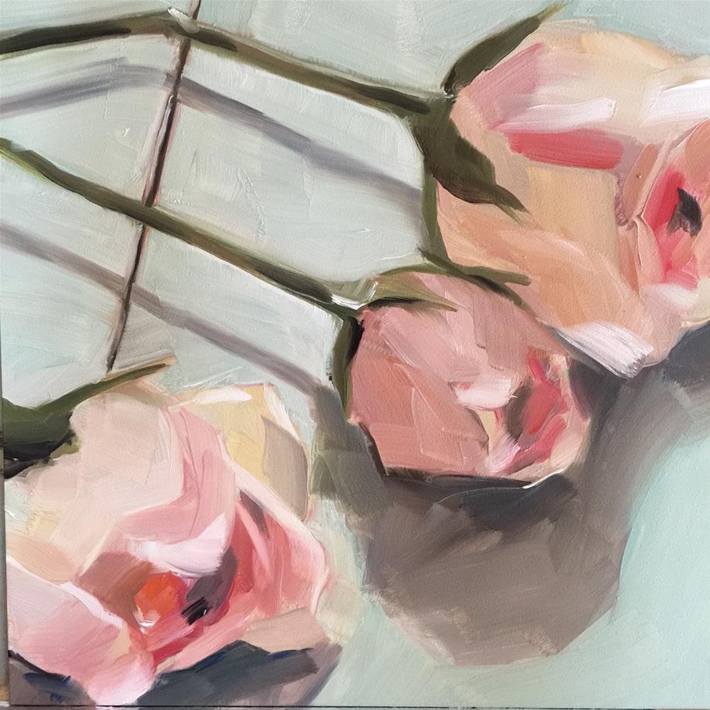 """""""303 Perfect Petals of a Rose"""" original fine art by Jenny Doh"""