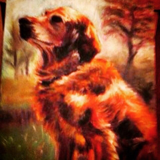 """""""Trapper"""" original fine art by Michelle Linnihan"""