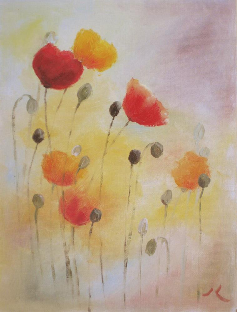 """Poppies"" original fine art by Julia Lu"