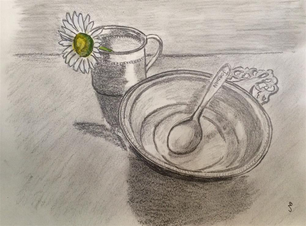 """Precious Memories   graphite 8 x 10"" original fine art by Nancy Beard"