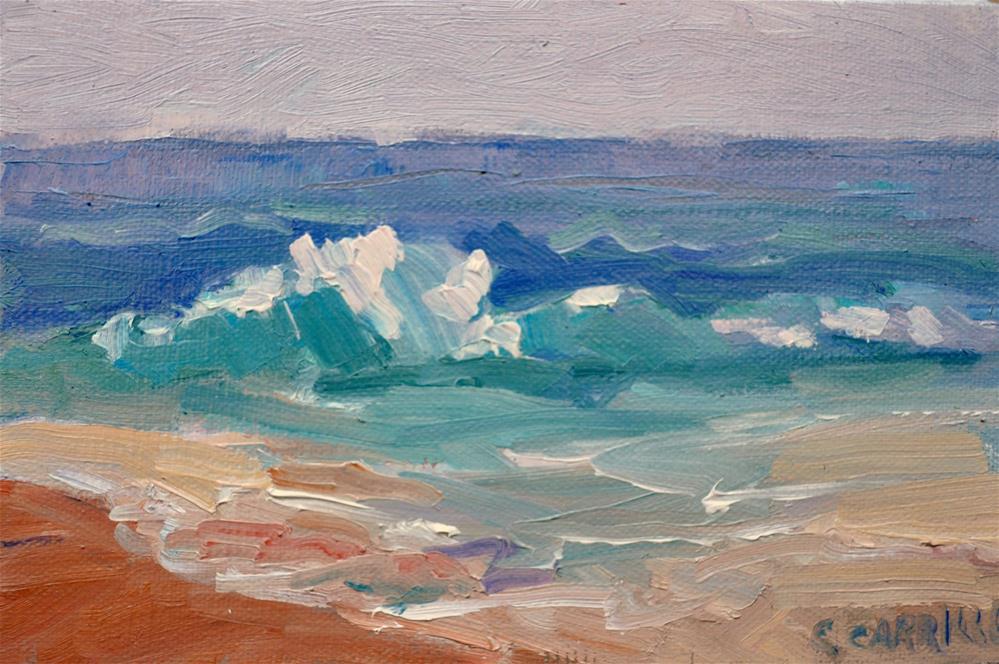 """""""Emerald Sea"""" original fine art by Cindy Carrillo"""