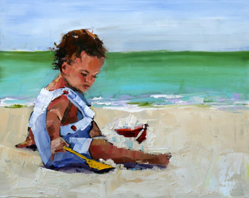 """last, but not least"" original fine art by Carol Carmichael"