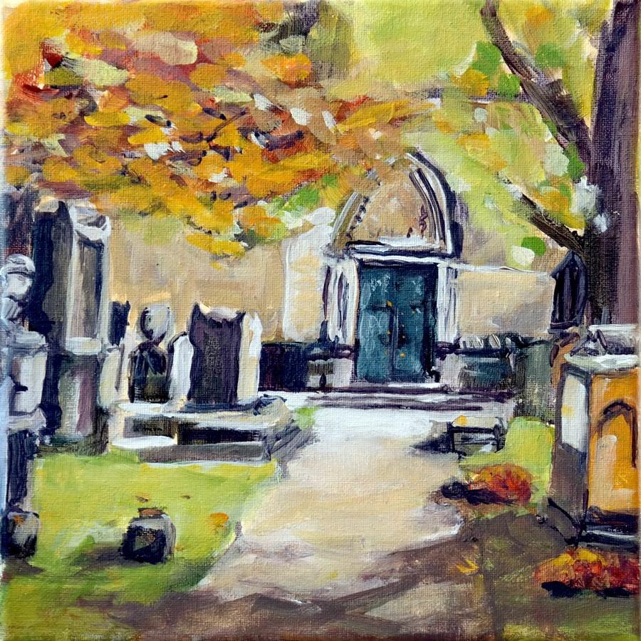 """1532 Garden Cemetery"" original fine art by Dietmar Stiller"