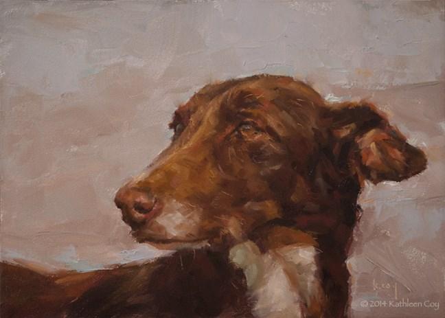 """51 - Podenco"" original fine art by Kathleen Coy"