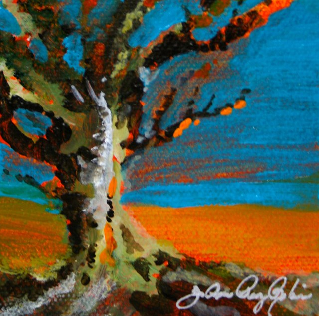 """Orange Tree"" original fine art by JoAnne Perez Robinson"