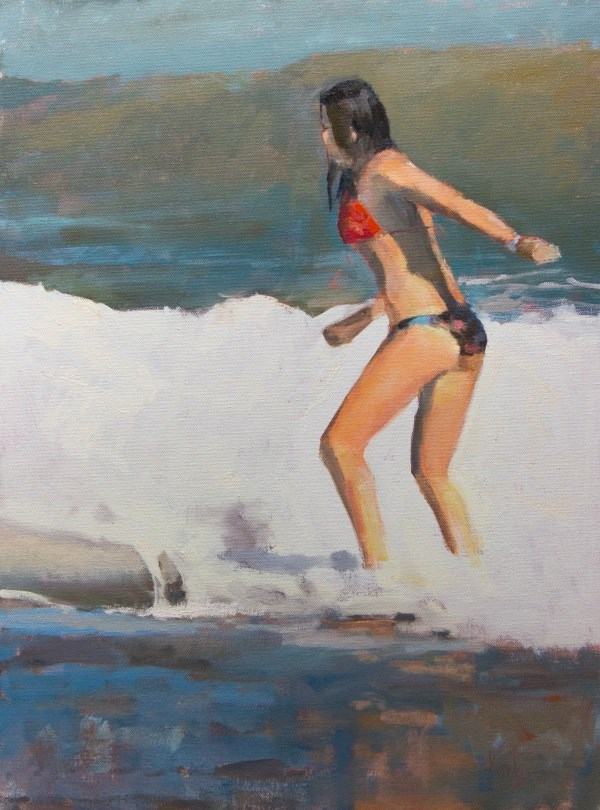 """Last Wave"" original fine art by Randall Cogburn"