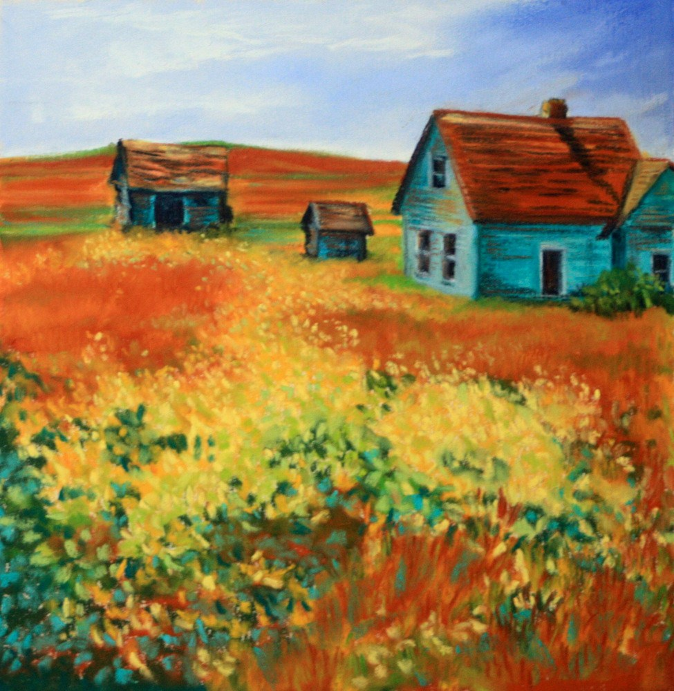 """Abandoned to the Goldenrod"" original fine art by Jill Bates"