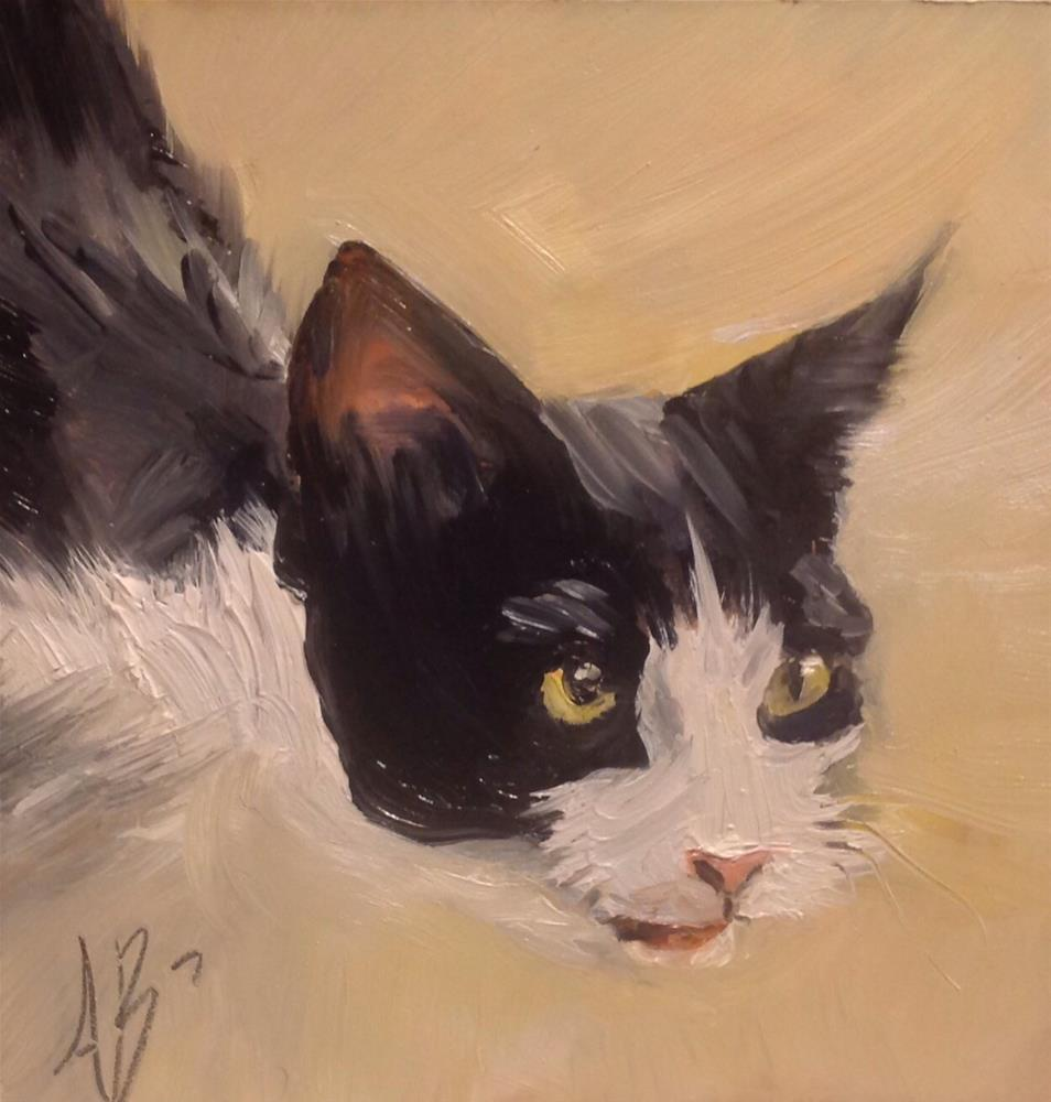 """Broken Whiskers"" original fine art by Annette Balesteri"