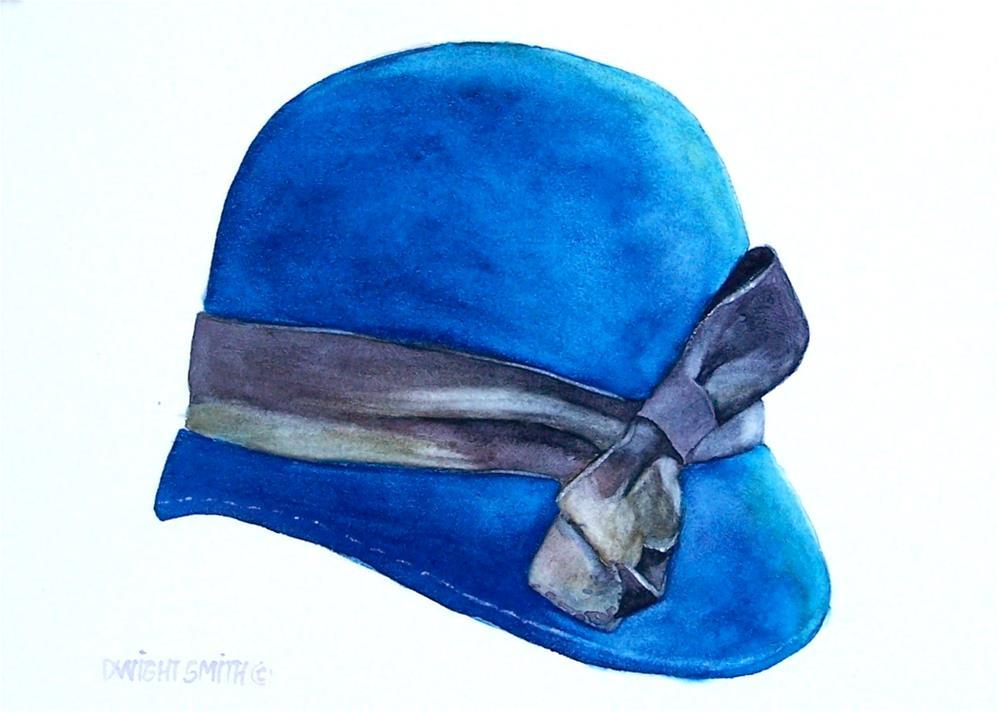 """ HER BLUE HAT "" original fine art by Dwight Smith"