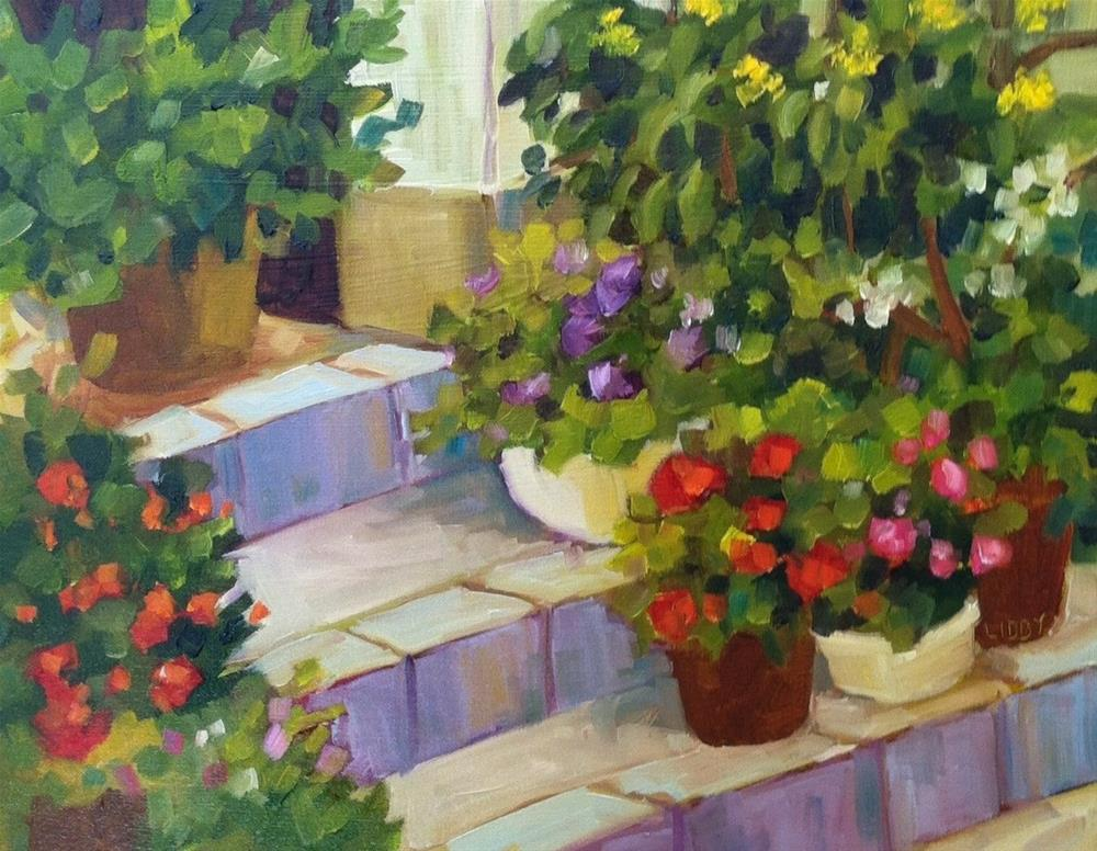 """South Porch"" original fine art by Libby Anderson"