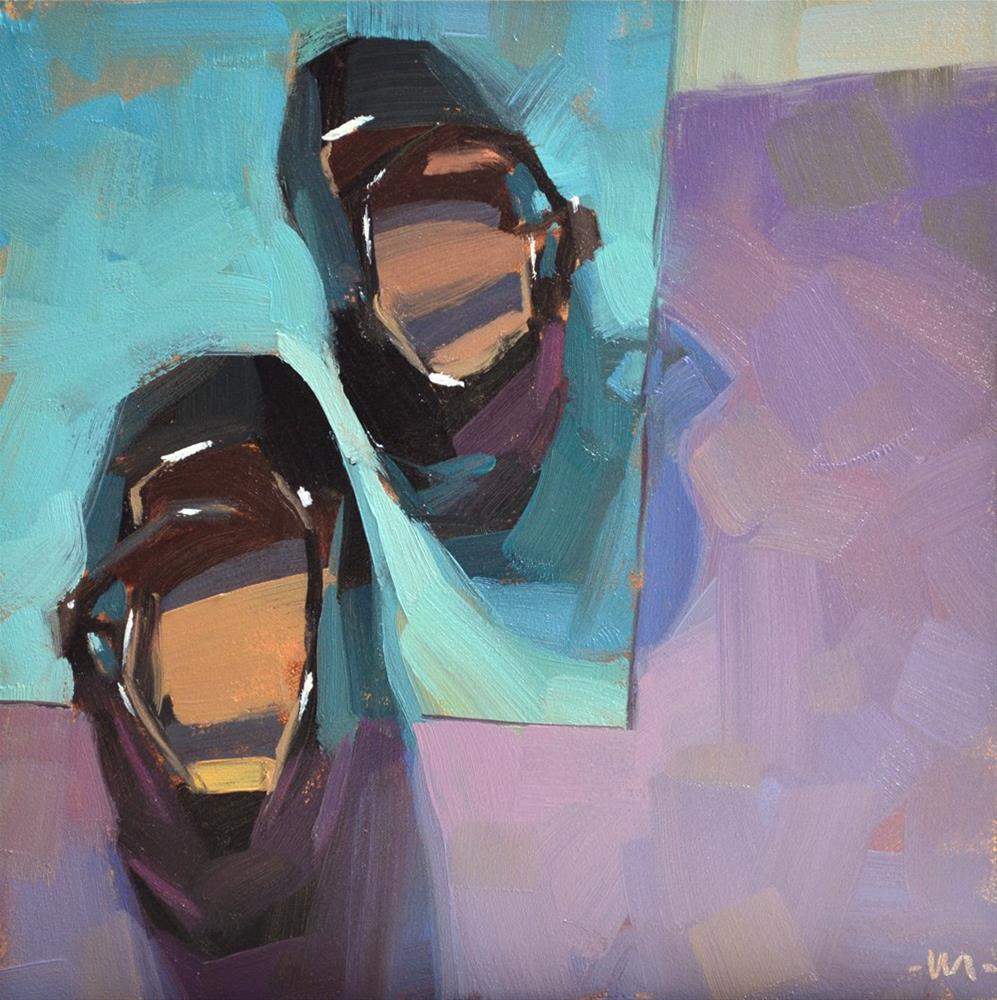 """Stepping Out"" original fine art by Carol Marine"