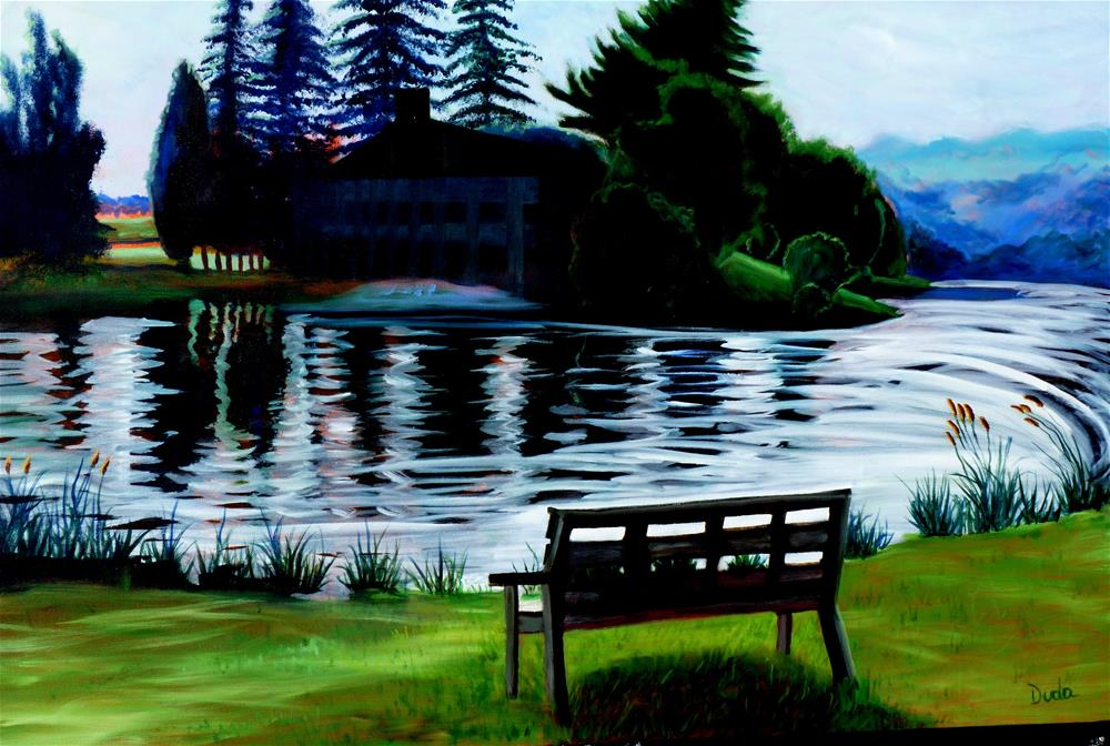 """Deep Creek"" original fine art by Susan Duda"
