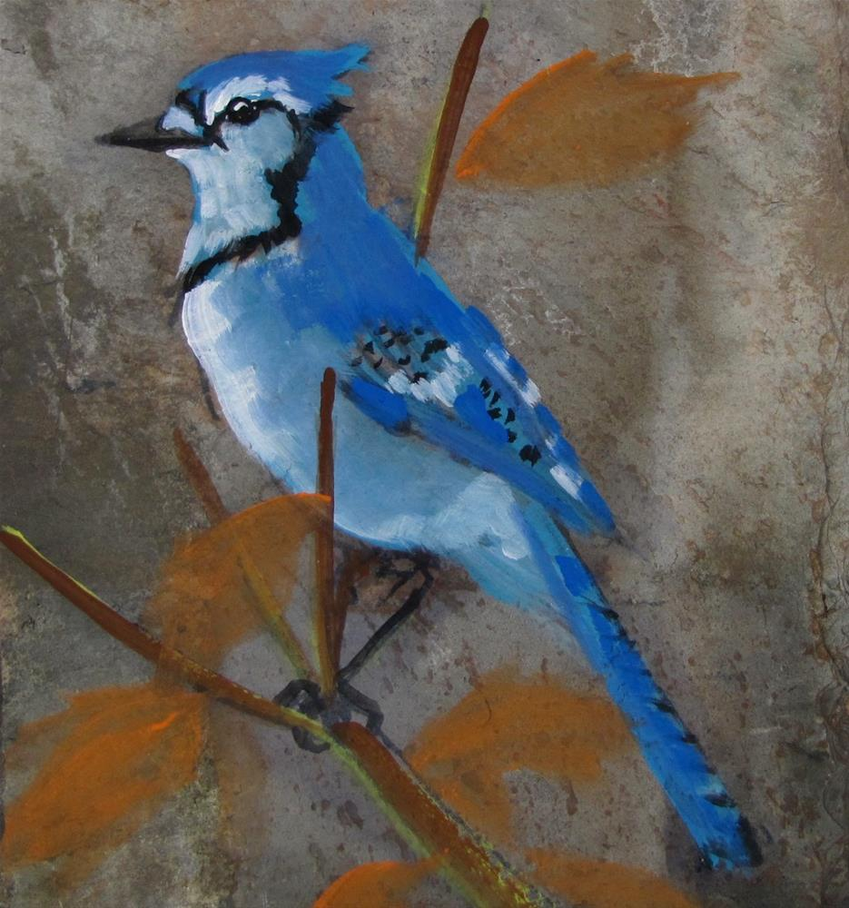 """Day 27 Slate - Bluebird"" original fine art by Christine Holzschuh"